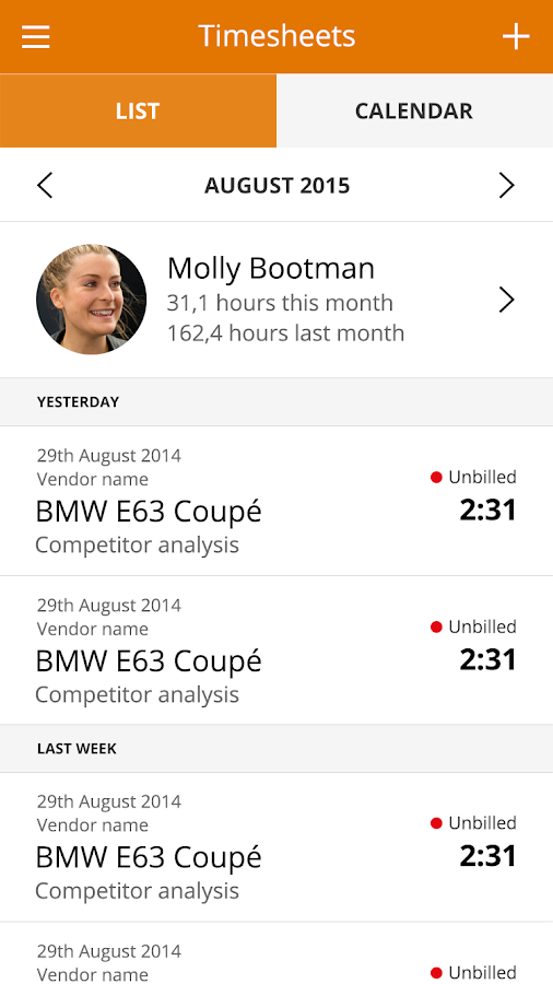 MoneyPenny - Time Tracking- screenshot