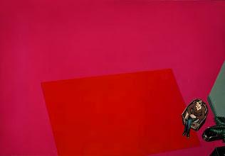 """Photo: """"Tapis rouge (Gilles)"""", 1977, peinture acrylique sur toile"""
