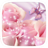 Pink Butterfly Heart Theme