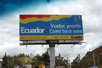 Photo: Ecuador asks us to return soon and we have every intention of coming back in a few hours.