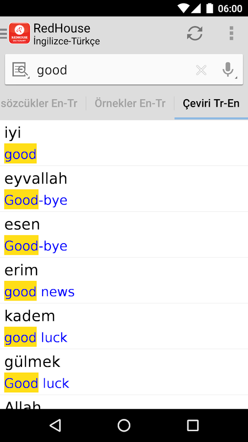 English - Turkish Dictionaries- screenshot