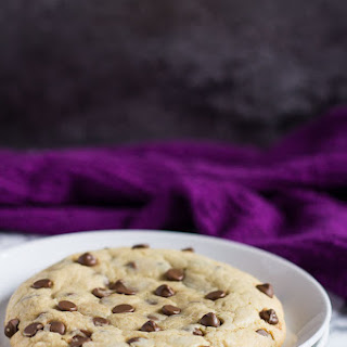 Giant Chocolate Chip Cookie for One