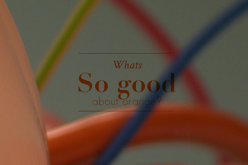 Photo: What's so good about orange? Answer in the comments to be part of  Diesel Fresh & Bright Exhibition.