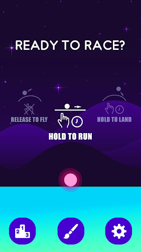 Hill Racer-Fly & Run the Ball Android App Screenshot