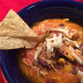 Creamy Chicken Enchilada Soup - Dashing Dish Recipe
