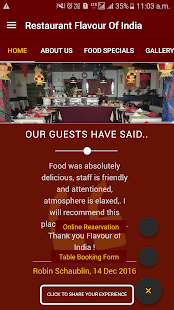 Restaurant Flavour of India- screenshot thumbnail