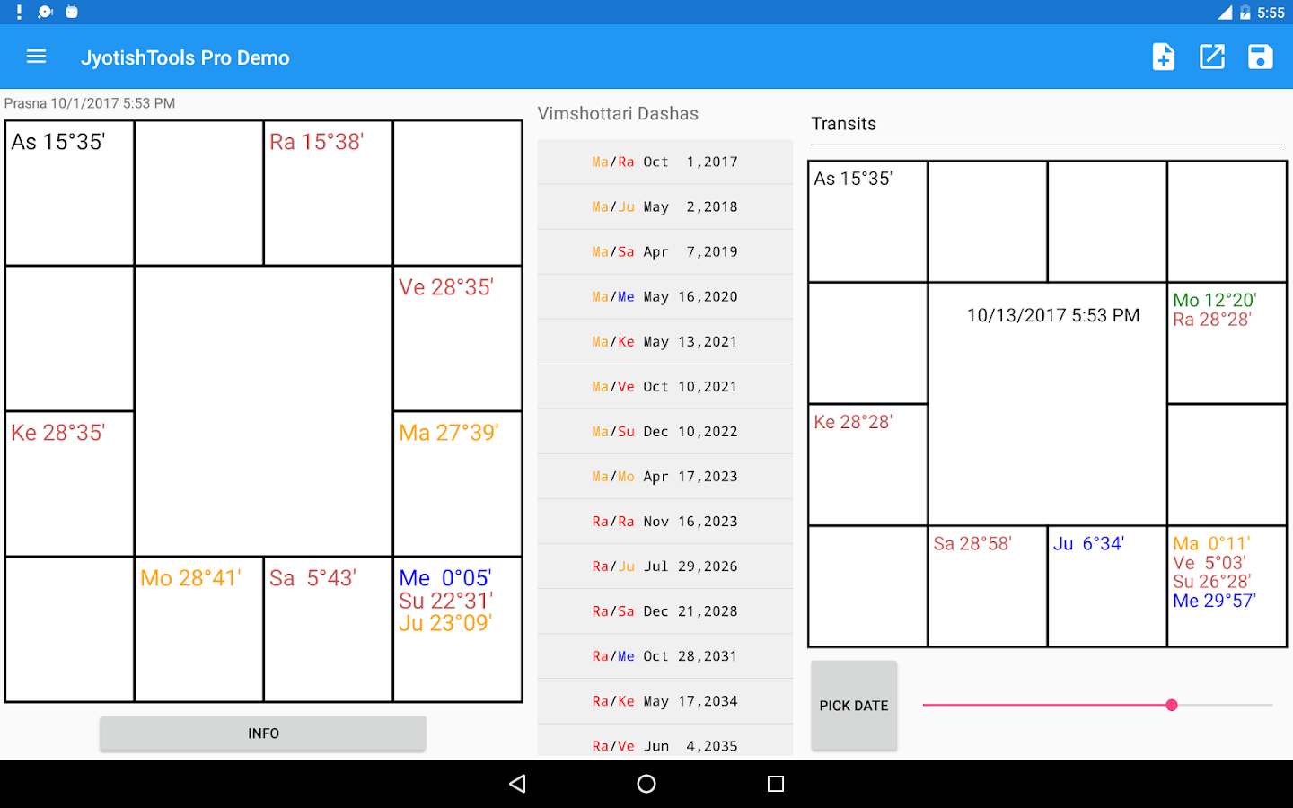 JyotishTools Pro for Tablets Demo- screenshot