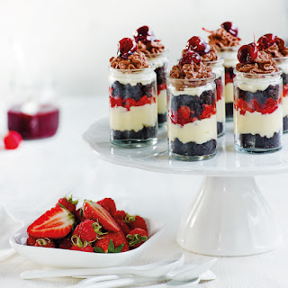 Chocolate Cream Brownie Berry Trifles