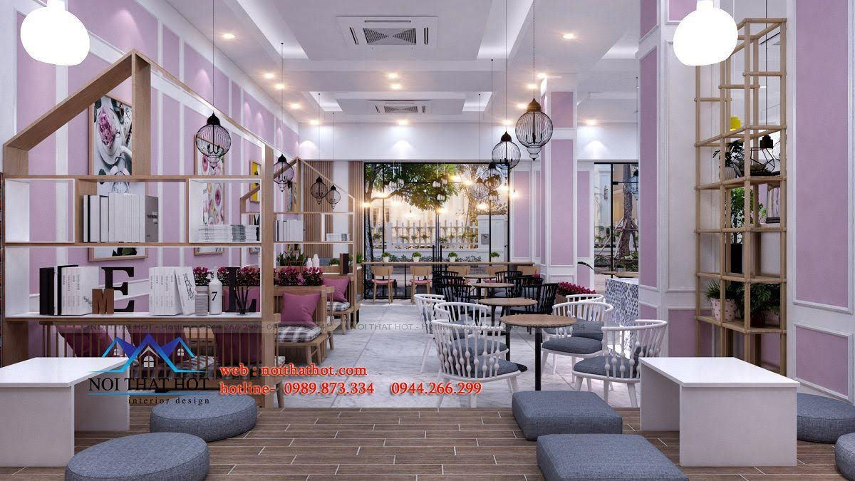 thiết kế quán trà sữa hei tea 7