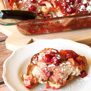Overnight French Toast with Cherries