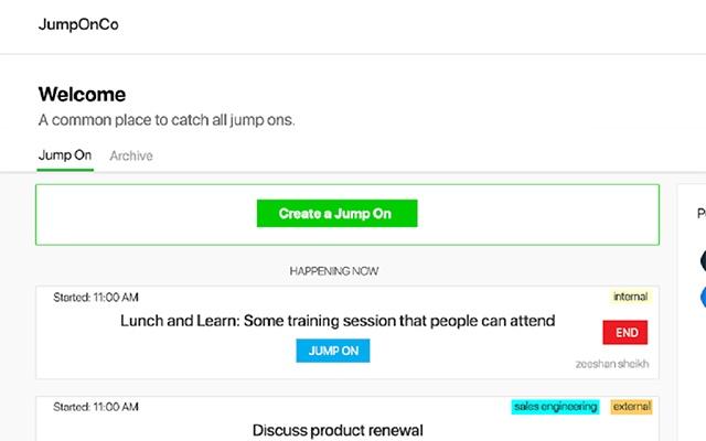 JumpOnCo ScreenShare