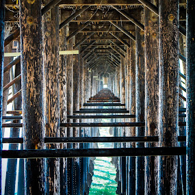 Under The Pier by Jay Woolwine Photography - Buildings & Architecture Bridges & Suspended Structures ( pier, bridge, boardwalk )