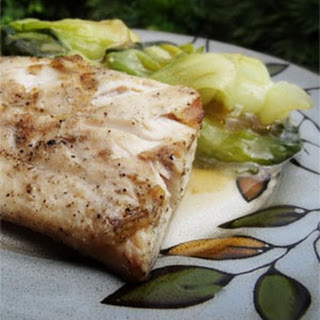 Mahi-Mahi with Bok Choy in Oyster Sauce