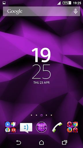 Purple Polygons Xperien Theme