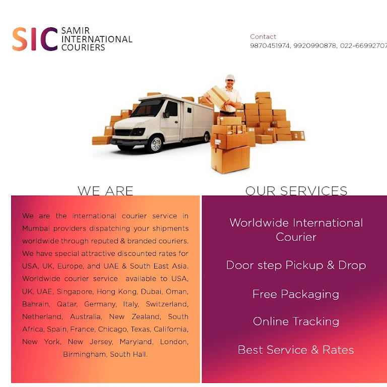 Samir International Couriers Jogeshwari west - International Courier