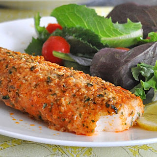 Parmesan and Paprika Baked Cod.