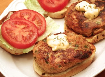 Savory Hoisin-ginger Salmon Burgers Recipe