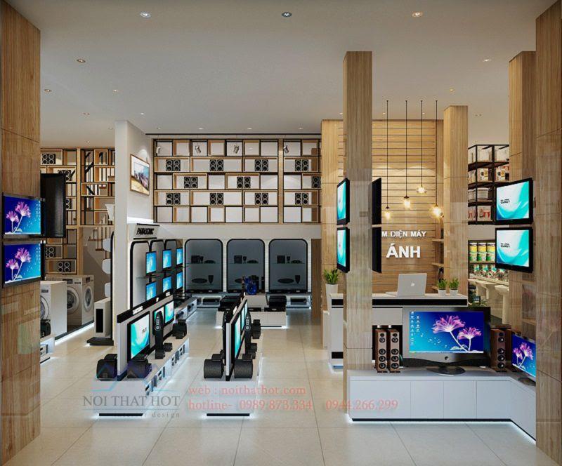 thiết kế cửa hàng điện máy cao cấp