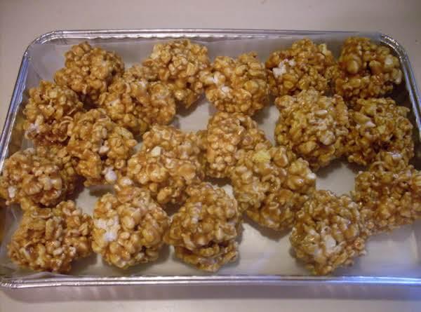 Caramel Pop-corn Balls! Recipe
