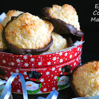 Chocolate dipped Eggless Coconut Macaroon