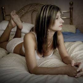 by Shaun Healey - Nudes & Boudoir Boudoir ( model, lingerie, bed, boudior )