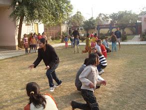 Photo: Playing Kho-kho with children at Manisha Mandir, 2009