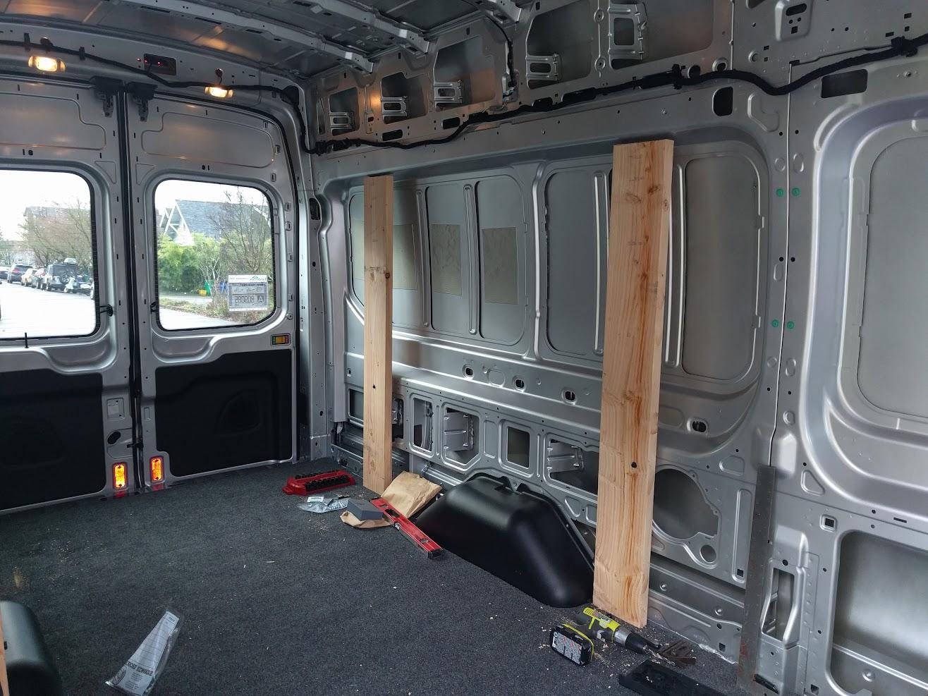 Dropped in the vanrug floor and re installed the stock door trim http www bedrug com products cargo s van rug html
