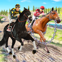 Chained Horse Racing Game-New Horse Derby Racing icon