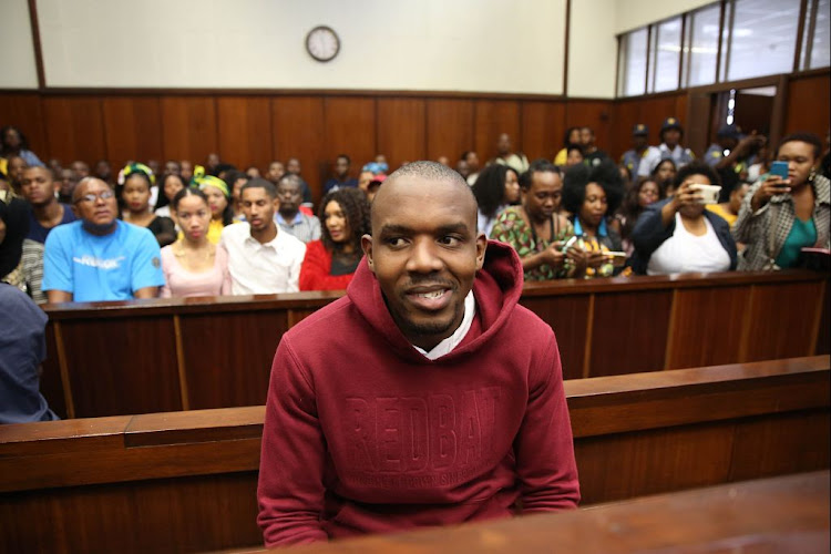Murder suspect Thabani Mzolo in the Durban Magistrates Court on May 3 2018.