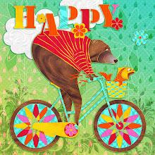 "Photo: Happy (24x24"" Wall Art) :: Design & Illustration © Kim Buchheit"