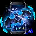 3D bat hero fidget spinner theme icon