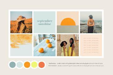 Sunshine Brand Board - Collage Template