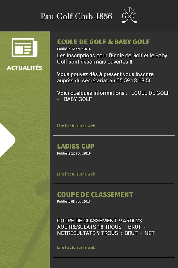 Pau Golf Club 1856- screenshot