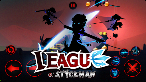League of Stickman 2019- Ninja Arena PVP(Dreamsky) screenshots 13
