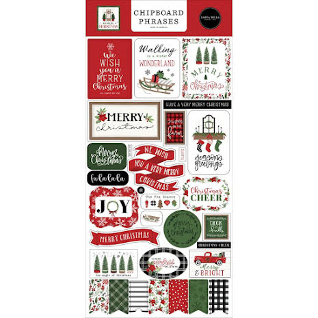 Carta Bella Home For Christmas Chipboard 6X13 - Phrases