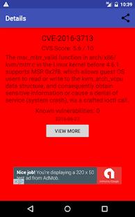 Vulnerability Feed screenshot