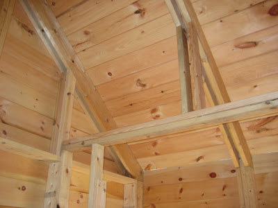 Framework for future sheathing and/or storage