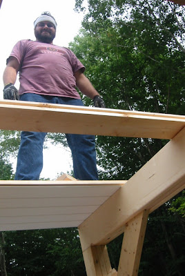 Decking the second floor loft