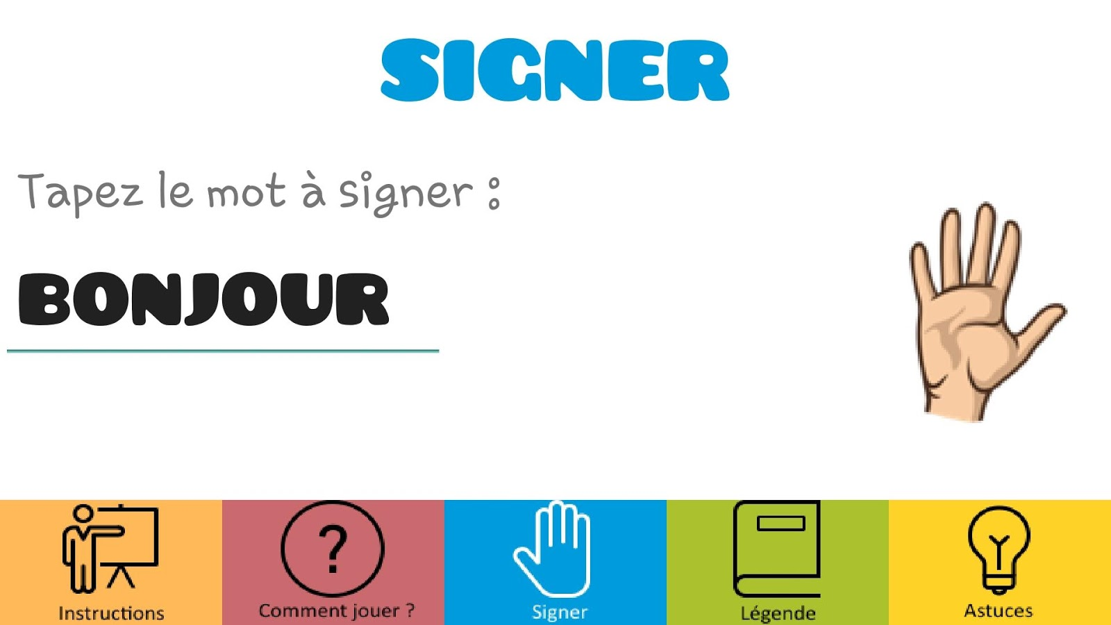 Signer - La langue des signes- screenshot