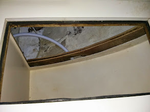 Photo: Aft wall of Ice box removed.