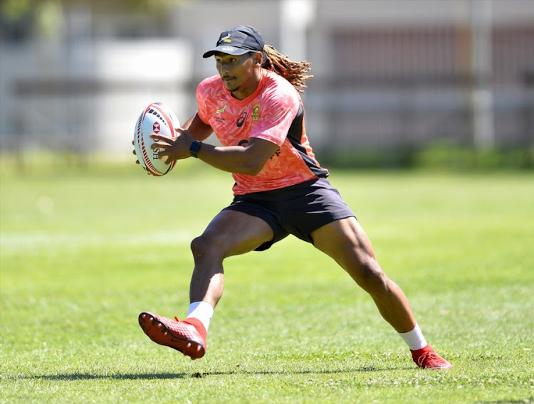 Justin Geduld during the Springbok Sevens training session at Bishops on December 05, 2017 in Cape Town, South Africa.