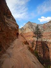 Photo: Aaron on the Hidden Canyon trail