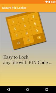 Secure File Locker - náhled