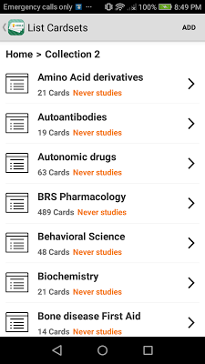 USMLE Flashcards - screenshot