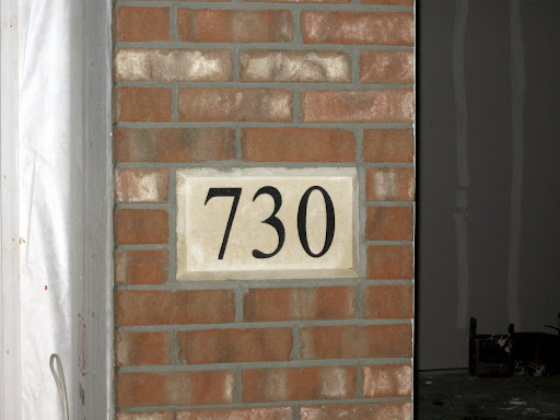 Purely Simply Love Brick Concrete And House Numbers