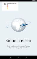 Screenshot of Sicher reisen