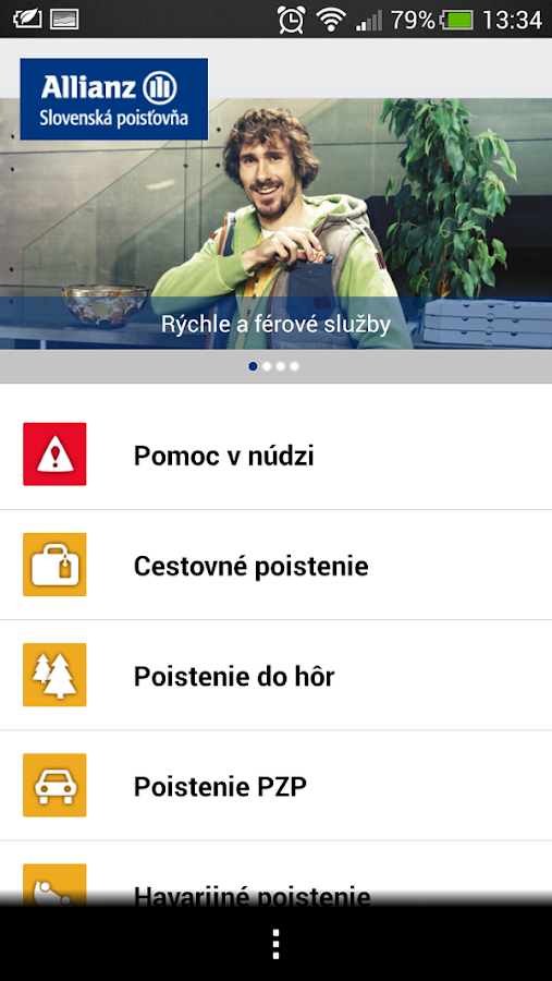 Allianz – Slovenská poisťovňa- screenshot