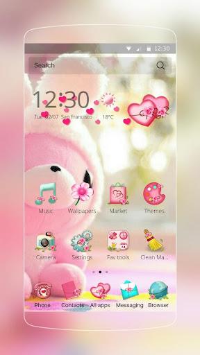 かわいいピンクのクマのテーマ