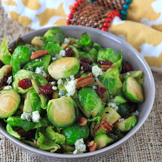 Sauteed Brussels Sprout, Cranberry, Pecan, And Blue Cheese Salad