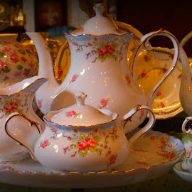 Tea Set by Rhonda Kay - Artistic Objects Cups, Plates & Utensils